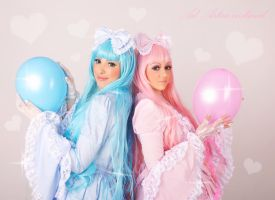 Sweet Lolitas - blue and pink by Yana-Mio