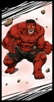 Red hulk by Dericules