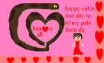 kaa say happy valentine days  too all by mewt66