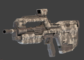 Battle Rifle:  COD MW3 Digital Skin by Mattpc
