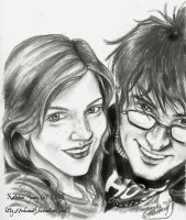 Lily Evans and James Potter by RohanElf