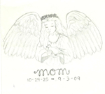 "Angel ""Mom"" Tattoo Design by thelinesthattied"