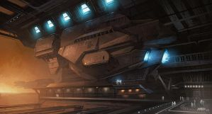 Ship Hangar by ATArts