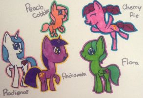 Time Traveling Kids of the Mane Six Mares by Samantha0912