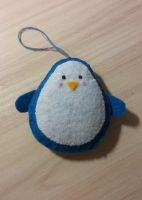 Penguin made of felt by DiabolicLily
