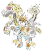 Kommo-o With Trainer (Colored)