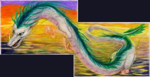 Flying Haku diptych by SSsilver-c