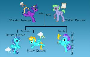 OC Pony Runner Family by dnewt