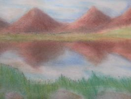 Landscape Pastel Drawing by Sydnohorse