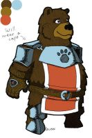 Fat Bear Knight Thing by GuaxGuax