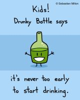 Drunky Bottle by sebreg