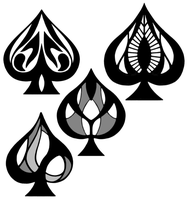 Some Ace of Spades Designs by Kota12