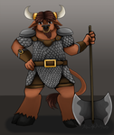 Commission: Minotaur by dreamerswork
