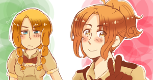 APH v. Atlas Terra: Ms. Il Nord and Nyo!Veneziano by ClumsyTea