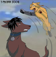 Flame vs. Fullmetal Dogs 2 by Heliotrope-Housecat