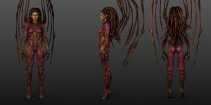 Starcraft II Kerrigan 3 Views by Walter-NEST