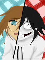 Jeff the Killer - befor and after by RedBloodSeed