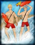 I can't swim! -  Lifeguards German Bros by patty110692