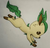 Leafeon - Love for Nature by xXFF7xYaoixX
