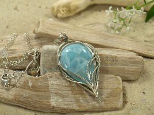 Atlantis - Larimar Necklace by FILIGRY