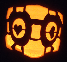 Companion Cube Pumpkin by johwee