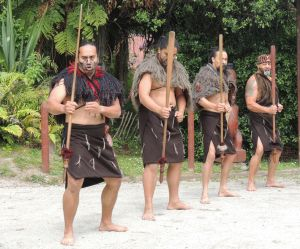 Maori men....a welcoming ceremony at New Zealand. by eyeluvroses