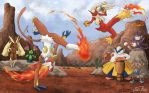 Pokemon Capoeira by Natalie-Becker