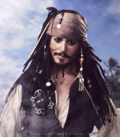 Captain Jack Sparrow by pudeel