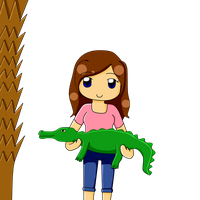 Holding a gator by Lynnae-Madison