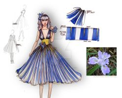 Fashion Design - Iris by likeabalalaika