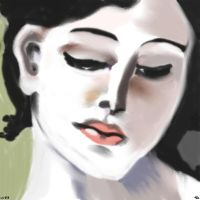 Woman face study n24 by lv888