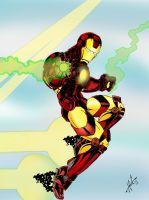 Iron Man: Colored by wjh1170