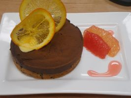 Chocolate Grapefruit Tart by Jifmona