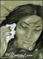 Nerissa  aceo sketch card by Katerina-Art