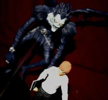 ryuk and kira by ruby-misted-eyes
