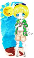 Kurapika Chibi Fun in the Sun by LUVsKurapika
