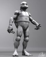 TMNT (1990 movie) - Michelangelo - 3D Model WIP by FoxHound1984