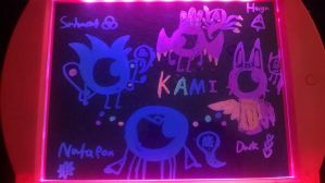 Glow Art-4 Kamis and Spirits by Uxie126