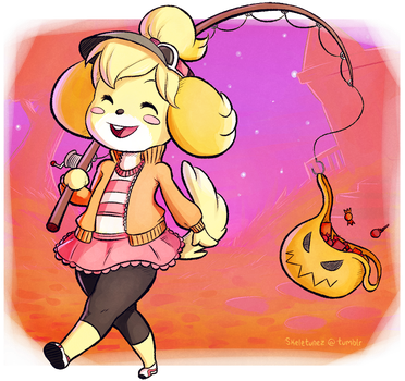 Isabelle Trick or Treating by Skellytune