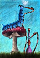 The Hookah-Smoking Caterpillar by VeIra-girl