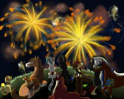 New Years Fireworks by WhyteHawke
