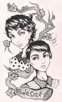 Tegan and Sara by Amme-Hsuor