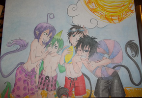 Demon Brothers At The Beach by urikikitty