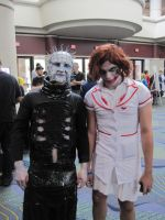 Pinhead and Joker at MegaCon 2012 by deadpool24