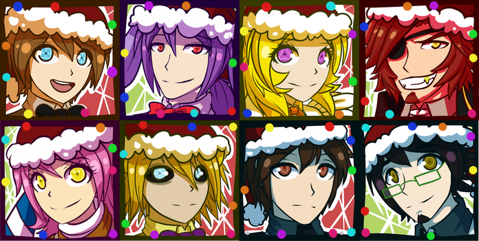 FNAF 1 Christmas Icons by Wolf-con-f