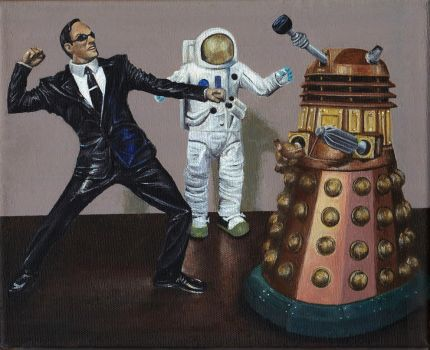 A Matrix of Daleks Acrylic Painting by Gothscifigirl