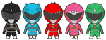 Power Rangers Godzilla Force Redesign Chibis by Hewylewis