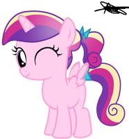 Princess Cadence Filly Version 2 by AndreaSemiramis
