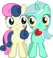 Filly Lyra 'n Bonbon by ArtPwny