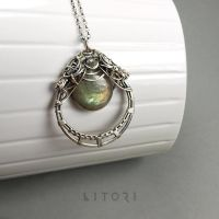 LAURION  silver necklace, labradorite, green ameth by litori